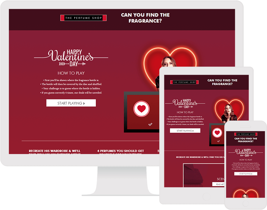 Dot.vu Interactive Content Platform - Customer Examples - The Perfume Shop - Valentines Game - Cover Picture