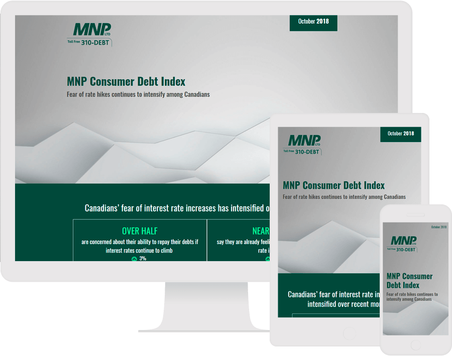 Dot.vu Interactive content platform - Customer Examples - MNP - Consumer Debt Infographic - Cover picture