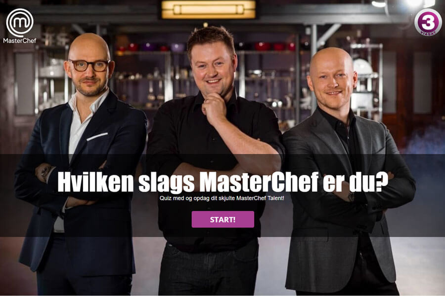 Personality test example: MasterChef Denmark