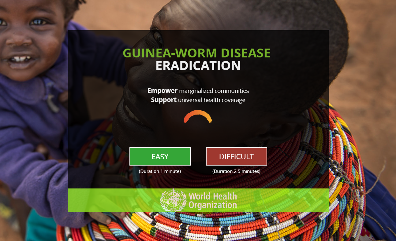 Dot.vu Interactive Content Platform - Customer Examples - WHO World Health Organization - Educational Quiz