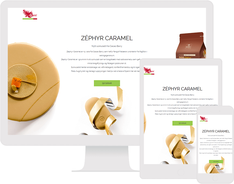 Dot.vu Interactive Content Platform - Customer Examples - Garri - New Product Campaign - Cover Picture