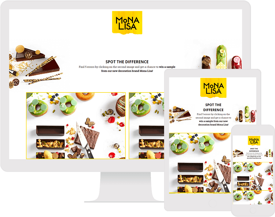 Dot.vu Interactive Content Platform - Customer Examples - Mona Lisa - Spot the difference game - Cover Picture