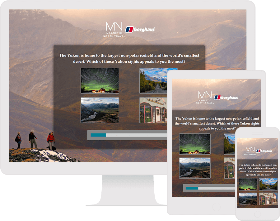 Dot.vu Interactive Content Platform - Customer Examples - Magnetic North Travel - What's your call of the wild? - Cover Picture