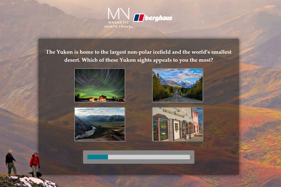 Dot.vu Interactive Content Platform - Customer Examples - Magnetic North Travel