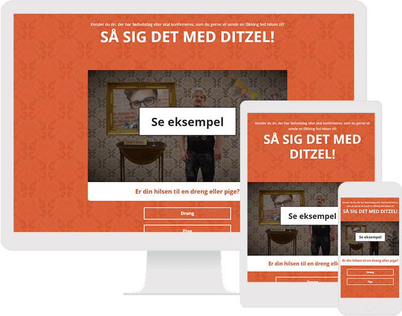 Dot.vu Interactive Content Platform - Customer Examples - Grasværk - Personalized Birthday Video Greeting - Cover Picture