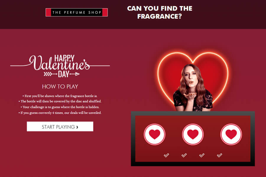 Dot.vu Interactive Content Platform - Customer Examples - Valentines Game