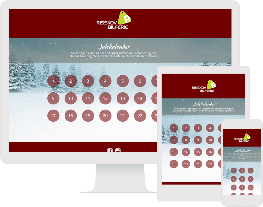 Dot.vu Interactive Content Platform - Customer Examples - Risskov Rejser - Advent Calender - Cover Picture