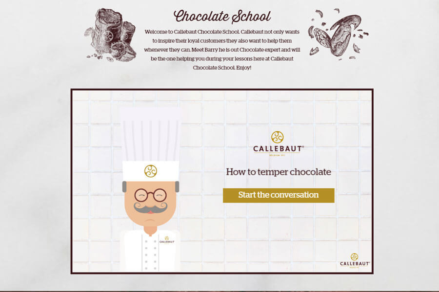 Interactive Conversation - Customer Example - Callebaut